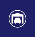 garage and car icon vector image