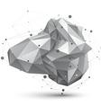 Geometric monochrome polygonal structure with wire