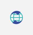 globe world logo vector image