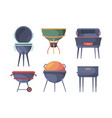 grill stand bbq traditional outdoor picnic party vector image