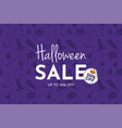 halloween sale banner and background vector image vector image