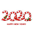 happy new year 2020 text as candy vector image
