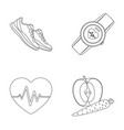 heart rhythm vitamins and other equipment for vector image vector image