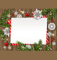 holiday card christmas party vector image vector image