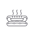 hot dog line icon concept hot dog linear vector image vector image