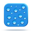 icon of waterproof fabric vector image vector image