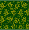 ikat seamless bohemian ethnic green pattern vector image vector image