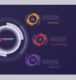 infographic round chart template on a deep vector image vector image