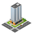 isometric icon town apartment building with vector image
