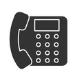 landline phone glyph icon vector image