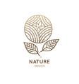 logo round flower vector image