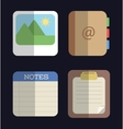 Media design Colorfull icon set graphic vector image