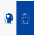 mind creative thinking idea brainstorming line vector image