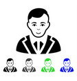 noble flat icon vector image vector image