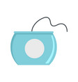 open dental floss box icon flat style vector image vector image