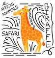 Orange giraffe on a white background isolated vector image vector image