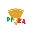 pizza slice food italy vector image vector image
