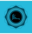 reading design seal stamp icon Isolated image vector image