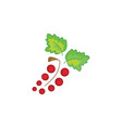 red currant icon on a white background vector image vector image