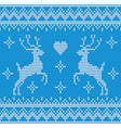 seamless deer knitting background vector image vector image