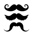 Set of Mustache on White Background vector image