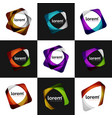 set of overlapping shapes business emblems vector image vector image