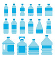 set of plastic bottles for water pictures vector image vector image