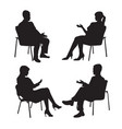 set of psychologist and the client psychotherapy vector image