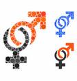 sexual symbols mosaic icon circles vector image vector image