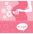 Silhouette pregnant mother with babys bootees vector image vector image