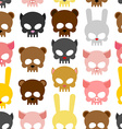 skulls animal seamless pattern Background for vector image vector image