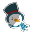 snowman xmas cartoon vector image vector image