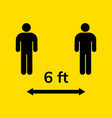 social physical keep distance safety vector image