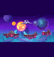 space game level background with platforms vector image vector image
