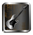 steel icon guitar engraving vector image vector image