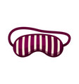 striped sleeping cotton mask isolated on white vector image