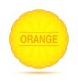 Sunny Circular Orange Logo Emblem vector image