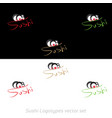 sushi logotypes set vector image