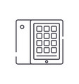 tablet and case line icon concept tablet and case vector image