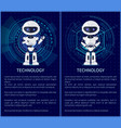 technology collection of robot vector image vector image