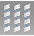 Trendy vertical origami paper numbered banners vector image
