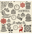 vintage holiday design elements vector image vector image