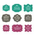 vintage sale label set design elements vector image vector image