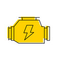 car carburetor powerful engine machine symbol vector image