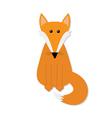 Fox Cute cartoon character Forest animal vector image