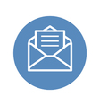 Receive mail icon in blue circle vector image