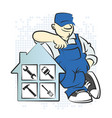 serviceman with the tool vector image