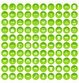 100 logistic and delivery icons set green circle vector image vector image