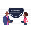 african american business man and woman holding vector image vector image