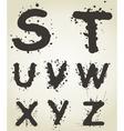 Alphabet a blot5 vector image vector image